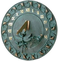 a new twist on an age-old idea, this sundial will add grace and a feeling of antiquity in any garden.  BUTTERFLY & DRAGONFLY SUNDIAL