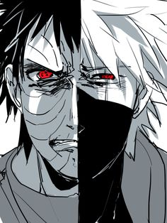 Obito Uchiha and Kakashi Hatake Anime Naruto, Naruto Fan Art, Naruto Shippuden Anime, Naruto Funny, Naruto And Sasuke, Pain Naruto, Naruto Girls, Kakashi Hatake, Madara Uchiha