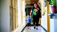 Know your neighbor: Rebecca Martinez. Taos Pueblo Head Start Director Rebecca Martinez with Carlos Cisneros, 4, Tuesday (July 22). Photo by Tina Larkin