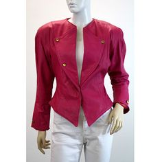 Vintage Leather Jacket Hot Pink Love by ELOFSON on Etsy, $128.00