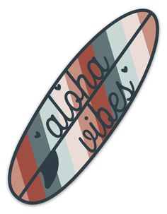 Surfboard Stickers, Surf Stickers, Preppy Stickers, Surfboard Art, Tumblr Stickers, Cool Stickers, Sticker Designs, Sticker Ideas, Cheap Hydro Flask