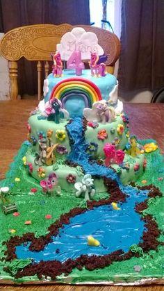 Eliana loved her My Little Pony Cake! 4th bday