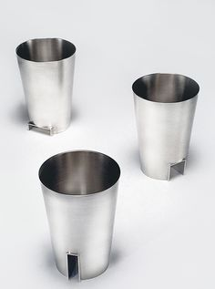 'Bower Beakers', (hidden places) sterling silver, by Heather O'Connor.