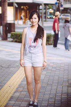 Pakita Clamores t-shirt and Sly Shorts - Ellen Kaminagakura