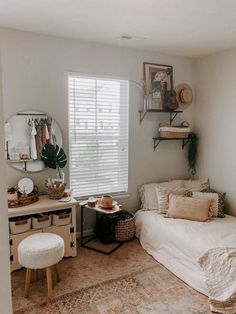 We meet again. Now, we will share a good topics about dorm room decor. This time, we have collected some room decor ideas for the dormitory. As we know, dorm room are definitely limit Room Ideas Bedroom, Home Bedroom, Bedroom Designs, Bedroom Inspo, Bedroom Ideas For Small Rooms Cozy, Bohemian Bedroom Design, Simple Bedroom Small, Small Minimalist Bedroom, Comfy Room Ideas