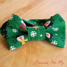 Boys Bow Tie - Whimsical Snowman Joy bowtie for infant, child, toddler, preteen, for Christmas holiday. $13.00