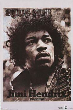Jimi Hendrix Rolling Stone Magazine Poster 22x34