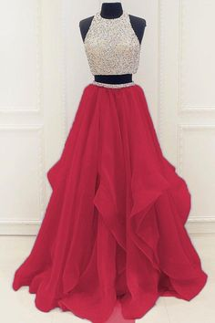 Prom Dresses 2018 Two Pieces Prom Dress, Sweet 16 Dresses, Prom Dresses, Graduation Party Dresses, Ball Gown Prom Dresses Two Piece, A Line Prom Dresses, Quinceanera Dresses, Dresses For Teens, Modest Dresses, Dance Dresses, Pretty Dresses, Evening Dresses, Formal Dresses