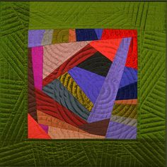 Marilyn Henrion - Pieced quilt works - #8 of 34-great color...would not have thought of the green
