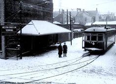 WESTON, Ontario -  st Street railway station in winter -TTC archies, Toronto