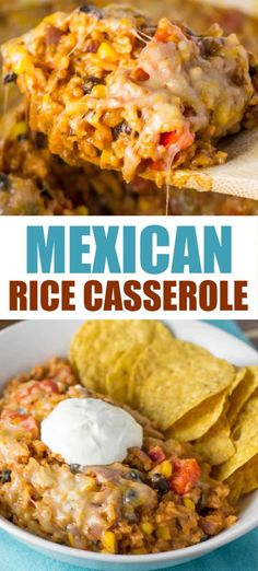 bell pepper recipes The best vegetarian mexican rice casserole recipe with bell pepper, corn, black beans, enchilada sauce, and cheese - this is such a delicious and easy meatless m Vegetarian Mexican Rice, Mexican Rice Recipes, Rice Recipes For Dinner, Tasty Vegetarian Recipes, Beef Recipes, Cooking Recipes, Mexican Dinners, Simple Rice Recipes, Taco Ideas For Dinner