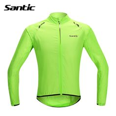 aad84ac44db Santic Waterproof  font  b Cycling  b   font   font  b Jersey  b   font  Rain  Jacket Ropa Ciclismo Windproof Windcoat Bicycle Clothing MTB Bike Jacket  Cycle ...