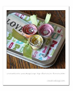 My holiday wrapping continues! This time I wanted to share with you my little tin gift card holders .     Again, I purchased these plain ...