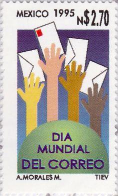 Día mundial del correo Manos y cartas 09/10/1995