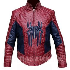 The Amazing Spiderman 2 Faux Leather Jacket - All Sizes