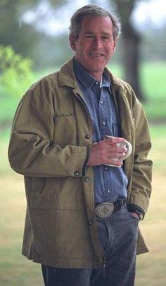 George W. Bush - my sister's boyfriend.  George Washington is mine.  However, GWB is so cute!