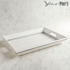 White Rectangular Tray | Pier 1 Imports #affiliate