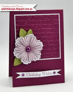 Splotch Design - Jacquii McLeay - Stampin Up - Mixed Bunch Card