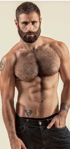 Hairy Men, Bearded Men, Hot Beards, Sexy Beard, Hairy Chest, Alpha Male, Dream Guy, Muscle Men, Facial Hair