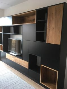 Tv Cabinet Design For Living Room Modern – Tv Cabinet Design – Mein Stil Living Room Wall Units, Living Room Tv Unit Designs, Ikea Living Room, Living Room Modern, Living Rooms, Office Wall Design, Tv Wall Design, House Design, Office Mural