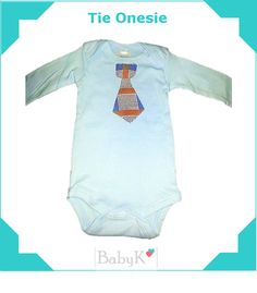 Tie Onesie for little boys by BabyK. Tie Onesie, Onesies, Little Boys, Boy Outfits, Custom Made, Cute, Kids, Clothes, Fashion