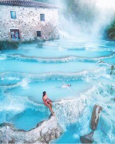 Spas of Saturnia, Italy
