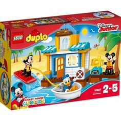 LEGO DUPLO Disney Juinior Mickey & Friends Beach House, Preschool, Pre-Kindergarten Large Building Block Toys for Toddlers - Most Wanted Christmas Toys Mickey Mouse And Friends, Minnie Mouse, Shop Lego, Buy Lego, Lego Disney, Disney Mickey, Legos, Toddler Toys, Toys