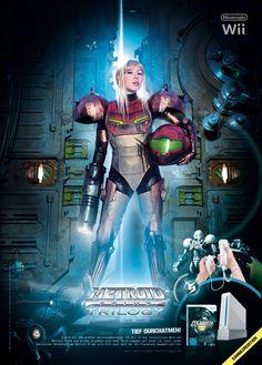 Metroid Prime Trilogy – Limited Poster auf Metallfolie gedruckt
