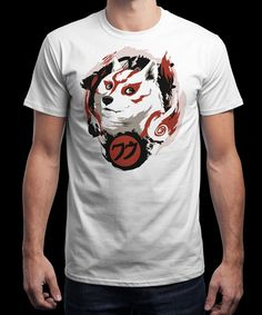 """""""Such Amaterasu"""" is today's £8/€10/$12 tee for 24 hours only on www.Qwertee.com Pin this for a chance to win a FREE TEE this weekend. Follow us on pinterest.com/qwertee for a second! Thanks:)"""