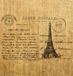 French postcard pre stamped for international guests who can send a post card to a loved one saying they had a wonderful time at your wedding! You can have a fake post box at the brunch!