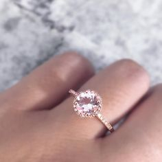 """1,830 Likes, 25 Comments - Diamonds By Raymond Lee (@diamondsbyraymondlee) on Instagram: """"Loveeeee this morganite & diamond engagement ring in rose gold 😍 Complete ring cost: $675 💕 Tag a…"""""""