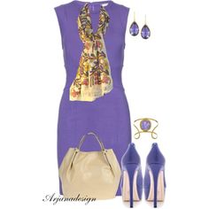 Do You Remember? by arjanadesign on Polyvore featuring Diane Von Furstenberg, Alice + Olivia, Coccinelle, Larkspur & Hawk, Isharya and purple dresses