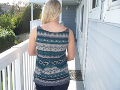 Loose fitting Tank Top with a fun pattern by Yoyce on Etsy, $15.00