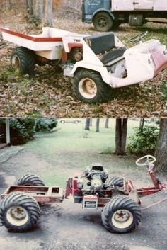 >>Just click the link for more info 4 seater atv. Check the webpage to get more … - Lawn Mower Small Garden Tractor, Small Tractors, Lawn Tractors, Homemade Tractor, Tractor Accessories, Diy Go Kart, Tractor Attachments, Engin, Welding Projects