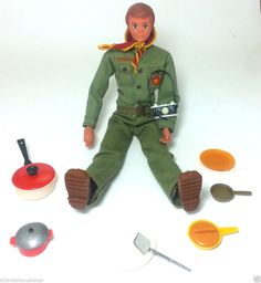 VTG 1974 KENNER STEVE SCOUT Action Figure LOT Camping Gear Accessories Boy Scout