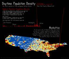 under the raedar: Daytime Population in the United States