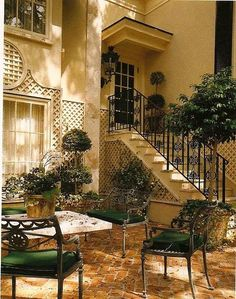 Most designs for projects come from a little inspiration, like from beautiful patios. They can really help you start thinking about what your patio could look like. Outdoor Rooms, Outdoor Gardens, Outdoor Living, Outdoor Decor, Beautiful Gardens, Beautiful Homes, Patio Interior, Outside Living, Exterior Design