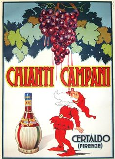 You simply can't go wrong with a nice Chianti! Vintage European Posters at vepca.com