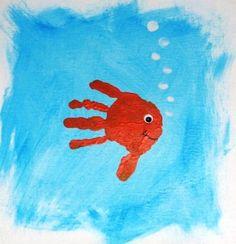 Canvas Fish Handprint