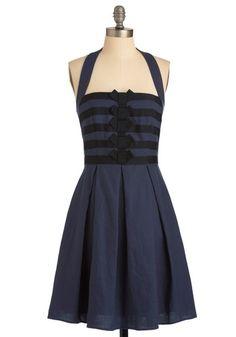 Mod Cloth Recital from Memory Dress Navy dress halter top size 2 Mod Dress, Navy Dress, Stunning Dresses, Pretty Dresses, Retro Vintage Dresses, Retro Dress, Classy And Fabulous, Little Dresses, Dress Me Up