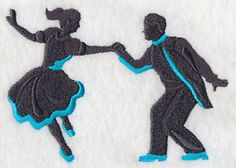 Swing Silhouette 3  Embroidered Terry by forgetmeknottreasure