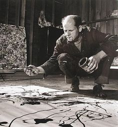 Pollock - dripping I never got much from his work until I saw one in person - wow! Such a perception of depth!