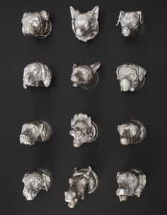 A GROUP OF TWELVE ENGLISH SILVER STIRRUP CUPS, MOST HOLLAND, ALDWINCKLE & SLATER, LONDON, 1914 |