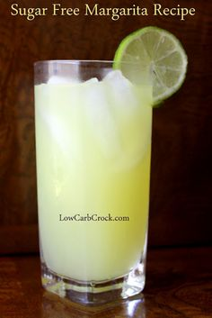 "Sugar Free Margarita Recipe. Thanks to Christine at ""LowCarbCrock.com"". I can't wait to try this!"