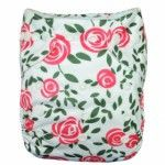 Shopdiaper White Rose Printed Suede Cloth Breathable One Size Pocket Diapers Prefold Cloth Diapers, Cloth Diaper Covers, Baby Leg Warmers, Baby Prints, Innovation Design, One Size Fits All, Pocket, Clothes, 35 Pounds