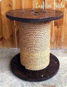 Rope Spool Side Table