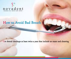 How to avoid bad breath Follow best tips to avoid bad breath.  Get #dental checkups at least twice a year that include an exam and cleaning