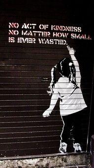 I like how it's street art and motivational.