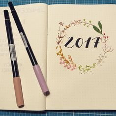 Exciting - just startet my bulletjournal for 2017 and I am really looking forward to start planning January. #bulletjournaling #bulletjournal #2017 #planning #tombow #planneraddict 📓🖋📚