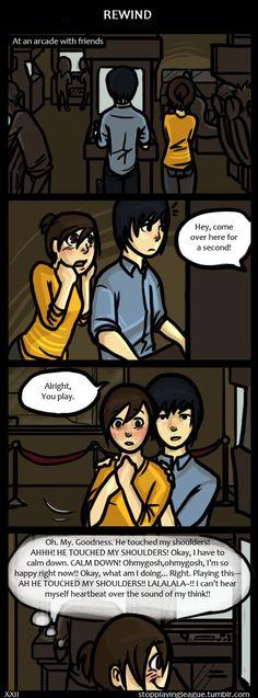 ( i think i love a derp) comic Cute Couple Comics, Couples Comics, Cute Comics, Funny Comics, Funny Cute, Hilarious, Derp Comics, Gamer Boyfriend, Gamer Couple